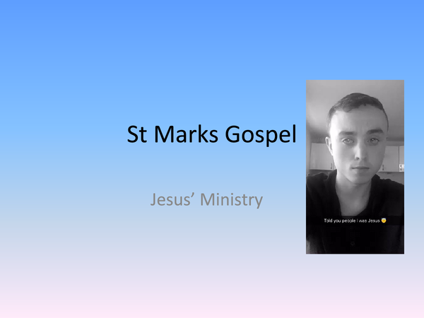 Preview of Jesus' Ministry - Topic 2 // UNIT 5