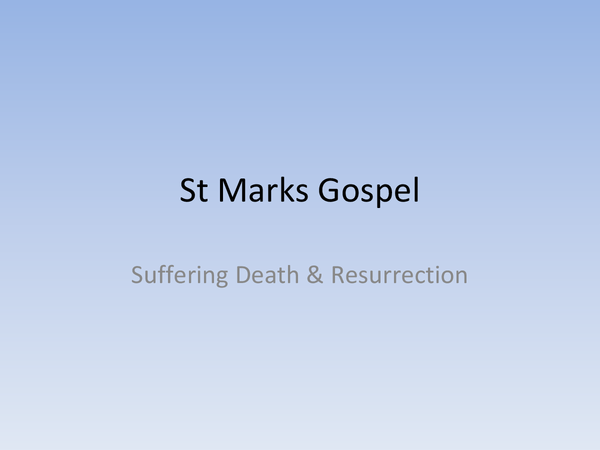 Preview of Jesus' Suffering, Death and Resurrection - Topic 3 // UNIT 5