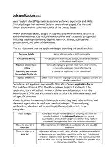 Preview of job applications for business GCSE