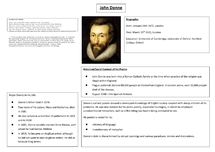 Preview of John Donne Information Sheet