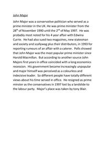 Preview of John Major