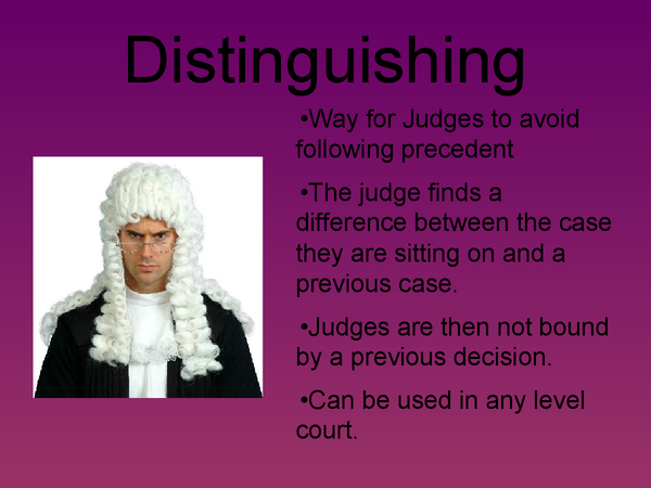Preview of Judicial Creativity- Distinguishing