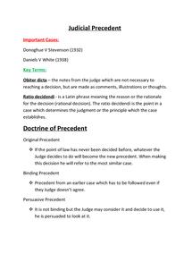 Preview of Judicial Precedent