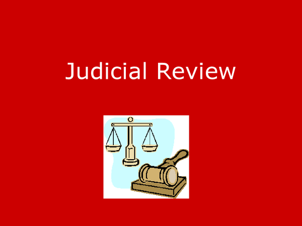 Preview of Judicial Review Powerpoint