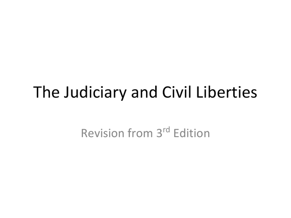 Preview of Judiciary and Civil Liberties