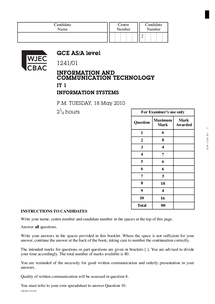 Preview of June 2010, question paper