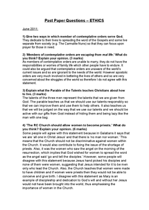 aqa religious studies past papers