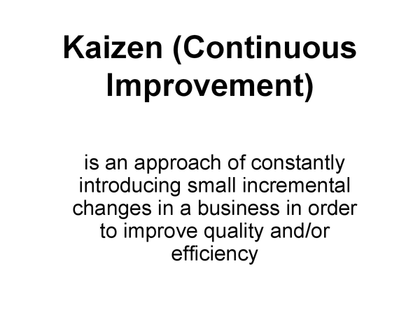 Preview of KAIZEN