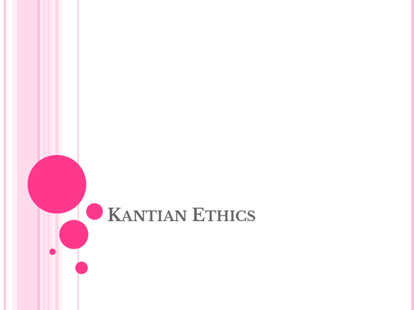 Preview of Kantian Ethics