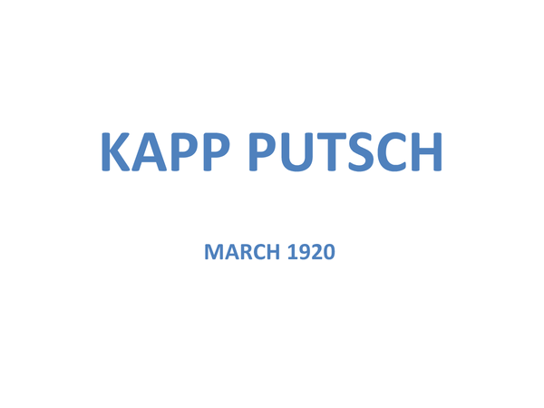 Preview of Kapp Putsch