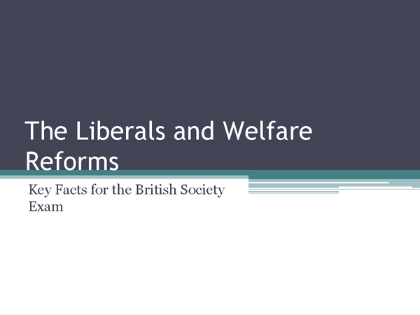 Preview of Key Facts for Liberal and Welfare Reforms
