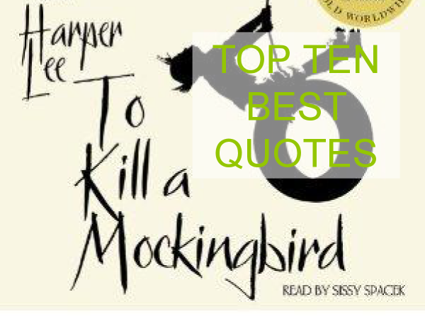 Preview of Key quotes in Part 1 of To Kill a Mockingbird by Harper Lee