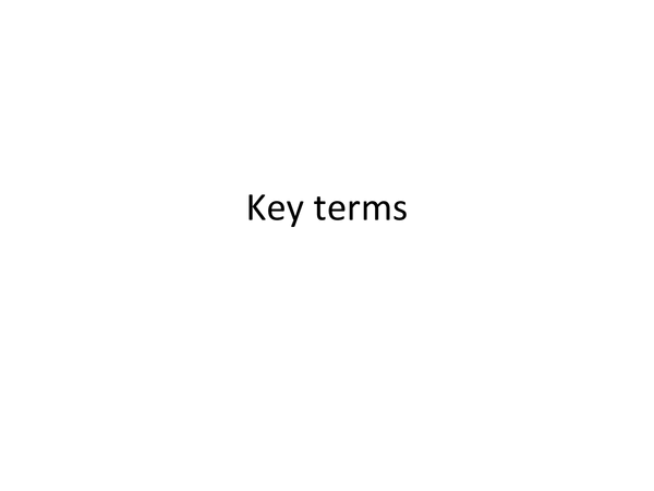 Preview of Key terms