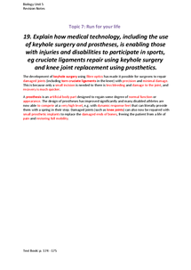 Preview of Keyhole surgery and prosthetic