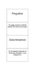 Preview of Keywords on prejudice and discrimination