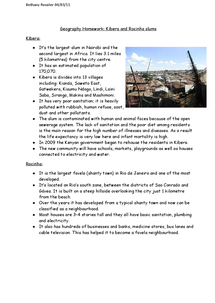 Preview of kibera and rocinha slum information