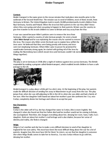 Preview of Kindertransport Revision.