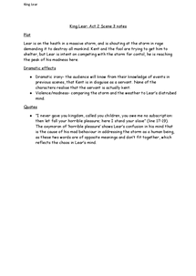 Preview of King Lear: Act 3 Scene 2 notes