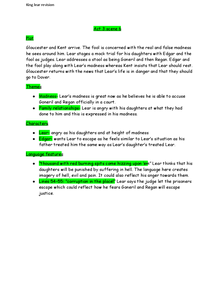 Preview of King Lear: Act 3 scene 6 notes