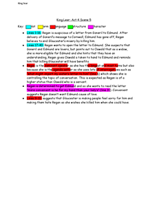 Preview of King Lear: act 4 scene 5 notes