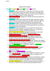 Preview of King Lear act 4 scene 7 notes