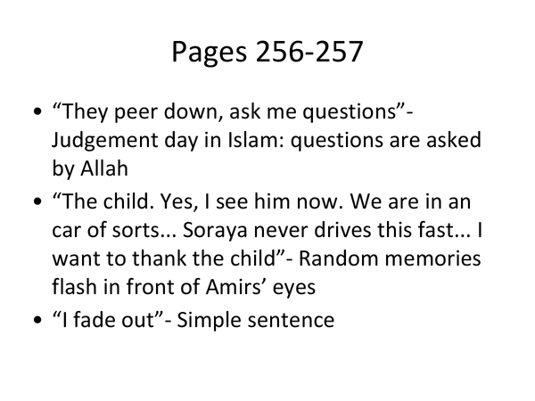 Preview of Kite Runner pages 256-261