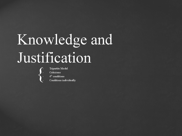 Preview of Knowledge, Belief and Justification