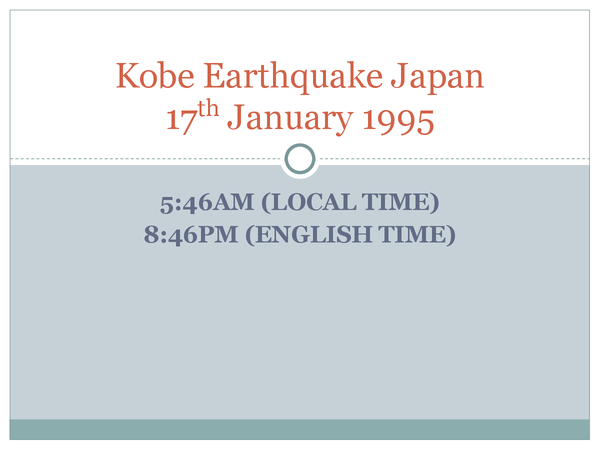 Preview of Kobe Earthquake