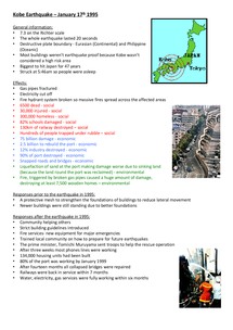 Preview of Kobe earthquake 1995  - case study