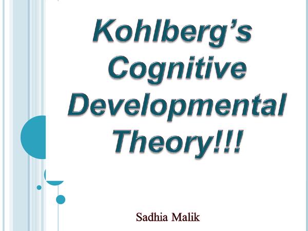 Preview of Kohlberg's presentation
