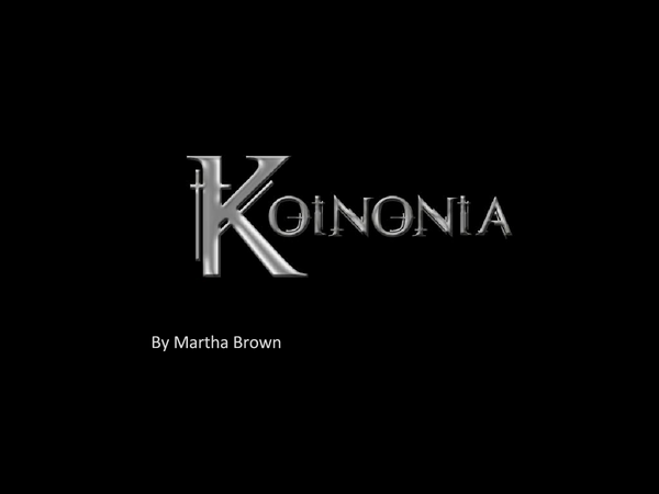 Preview of Koinoinia