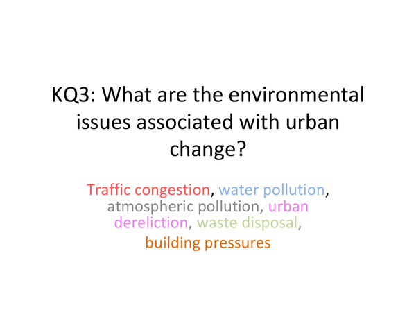 Preview of KQ3 Environmental Issues In Urban Areas