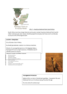 Preview of Kwazulu National Park LEDC