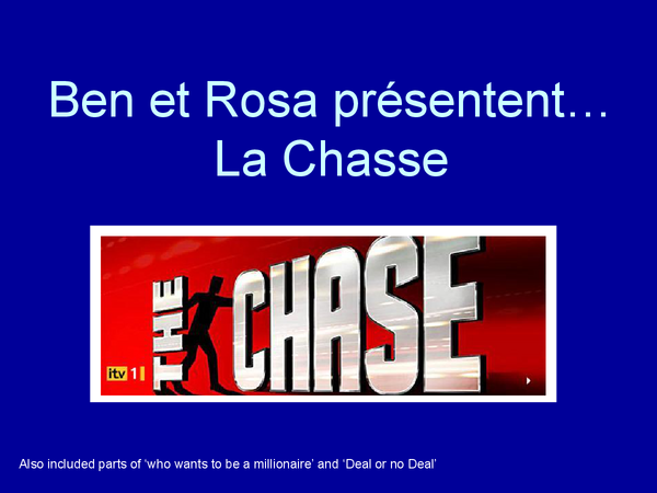 Preview of La Chasse - The Chase