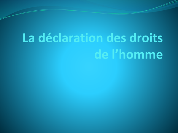 Preview of La déclaration des droits de l'homme