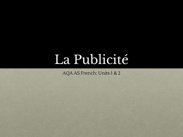 Preview of La publicite