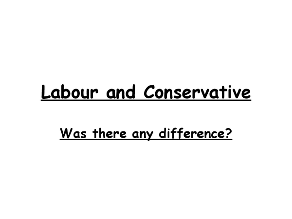 Preview of labour and conservatives