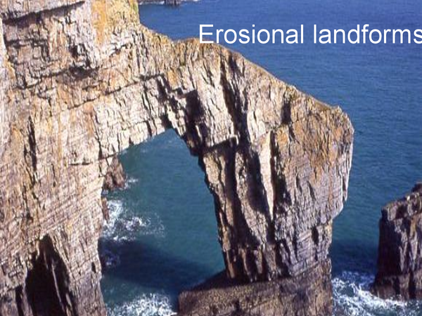 Preview of Land forms formed by erosion.