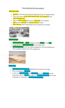 Preview of Landforms of Fluvial Erosion (Deserts)