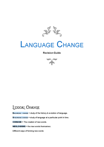 Preview of Language Change Revision Guide