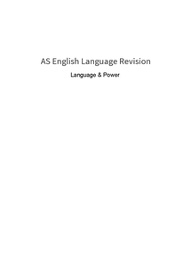 Preview of Language & Power general revision