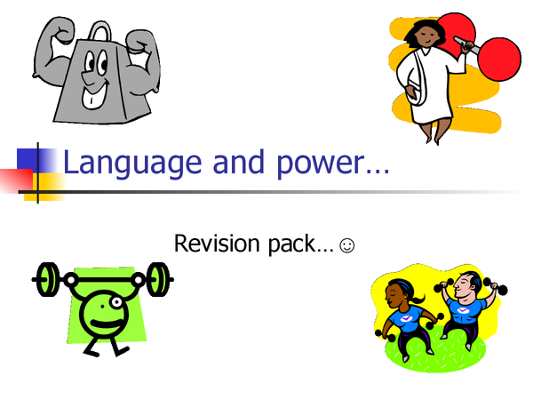 Preview of Language and power x
