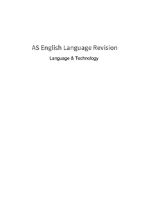 Preview of Language & Technology general revision