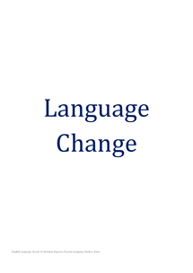 Preview of Language change revision