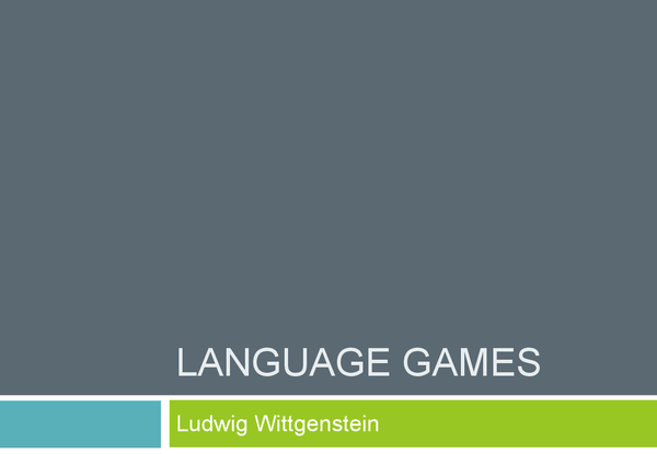 Preview of Language Games