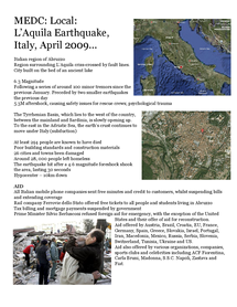 Preview of L'Aquila Earthquake Case Study