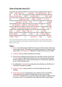 Preview of Latin GCSE: Nisus et Euryalus lines 16-27