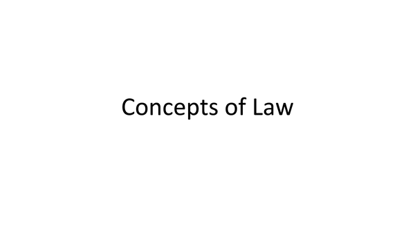 Preview of Law 04- Concepts of Law Plans