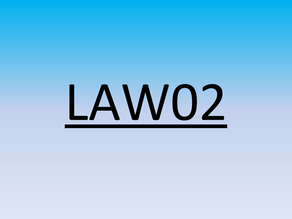 Preview of Law02 revision notes
