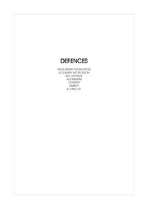 Preview of Law03 - Defences